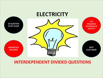 Electricity: Interdependent Divided Questions Activity