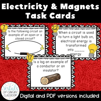 Electricity & Magnets Task Cards
