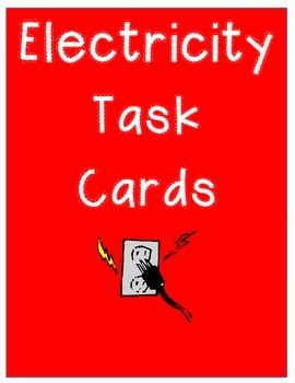 Electricity Task Cards - 24 cards