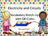 Electricity and Circuits Vocabulary Match Up with and with