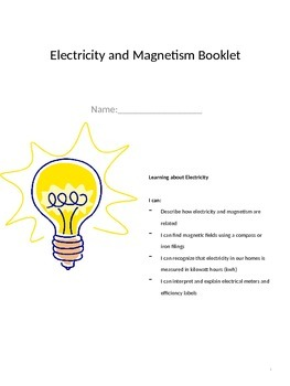 Electricity and Magnetism Study Book- EDITABLE