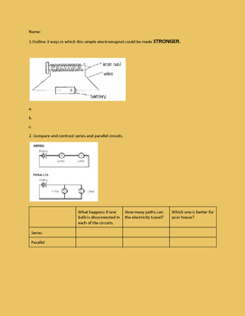 Electricity and Magnetism Test