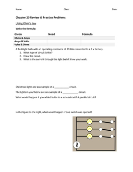 Electricity and Magnetism Test Review