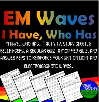 Electromagnetic Waves I Have...Who Has... Activity Set for