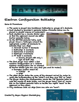 Electron Configuration Battleship