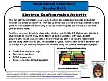 Electron Configuration and Orbital Notation Activity