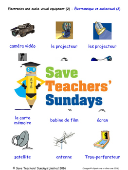 Electronics Equipment 2 in French Worksheets, Games, Activ