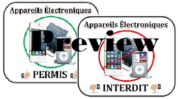 Electronics Permitted/Prohibited - BYOD FRENCH Electroniqu