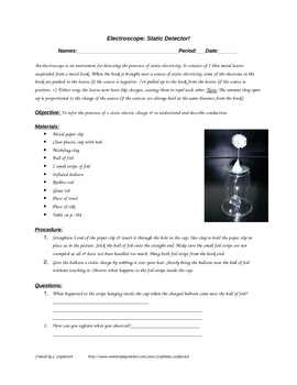 Electroscope: Make a Static Electricity Detector Lab