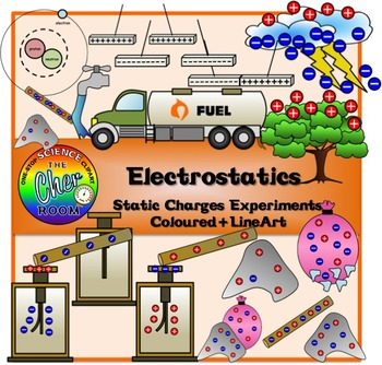 Electrostatics Clipart (Physics, Electricity, Static Charges)
