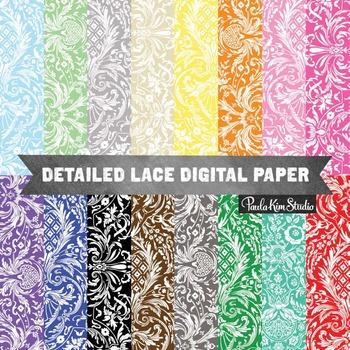 Digital Paper - Lace