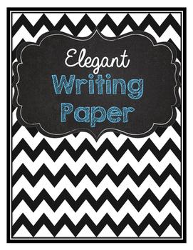 Elegant writing paper
