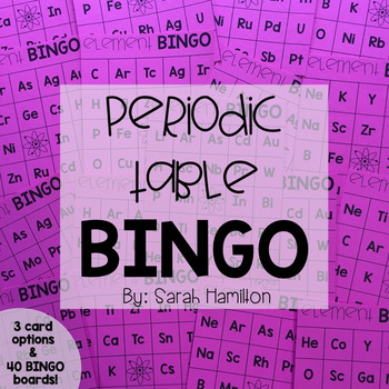 Element BINGO: Periodic Table of Elements Activity