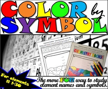 Element Names and Symbols - Color By Number