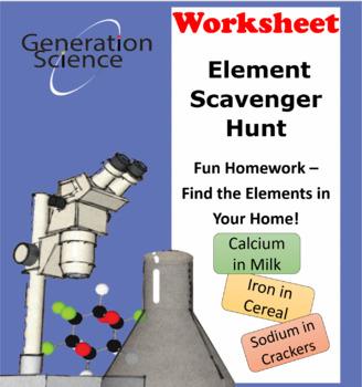 Element Scavenger Hunt - Fun Homework!