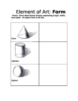 Element of art - Form