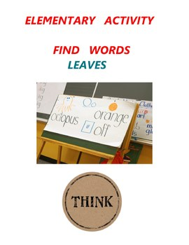 Elementary Activity - Find Words - Leaves - Grade 1 Grade