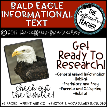 Elementary Animal Research Information- Bald Eagles!