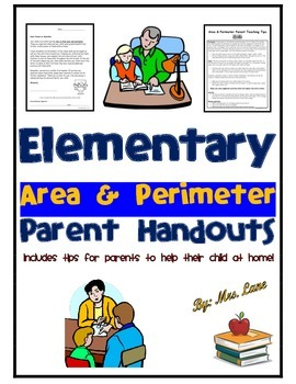 Elementary Area & Perimeter Parent Handouts (Help At Home)
