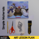 Elementary Art Lesson - Figure Sculptures with Shadows for