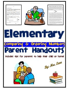 Elementary Comparing & Ordering Numbers Parent Handouts (H