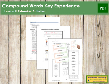 Compound Word Key Experience & Materials - Elementary