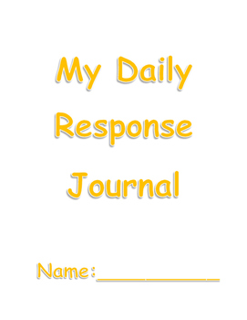 Elementary Daily Response Journal