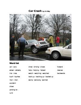 Car Crash - By the Way ESOL language prompt, sub plans
