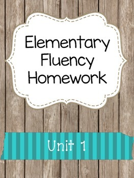 Elementary Fluency Homework (First/Second Grade) Reading