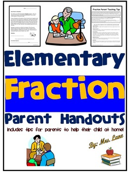 Elementary Fraction Parent Handouts (Help At Home)