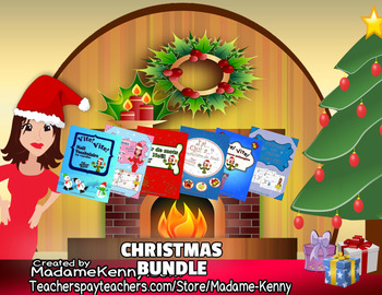 French Immersion Christmas Vocabulary Bundle