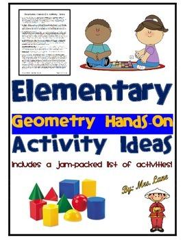 Elementary Geometry Hands-On Activity Ideas
