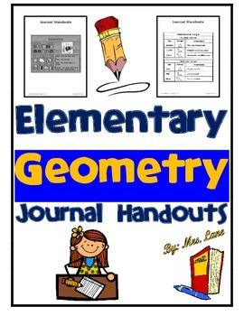 Elementary Geometry Journal Handouts