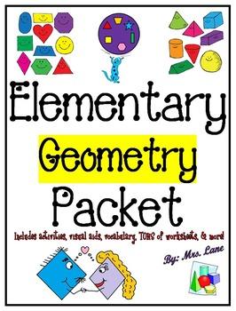 Elementary Geometry Packet (SUPER JAM-PACKED!)