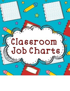 Elementary Job Charts for Classroom Management