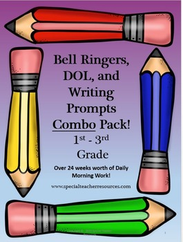 Elementary Language Arts Bell Ringers Combo Pack