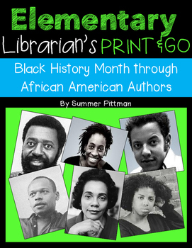 Black History Month Elementary Librarian's Print and Go Af