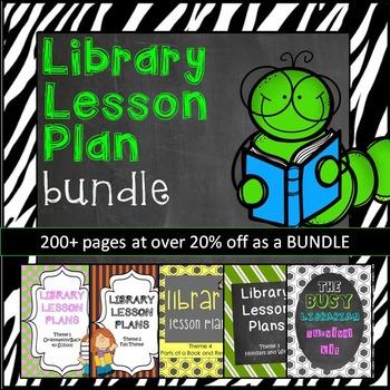 Elementary Library Lesson Plans BUNDLE