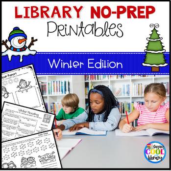 Elementary Library No Prep Printables - Winter Theme