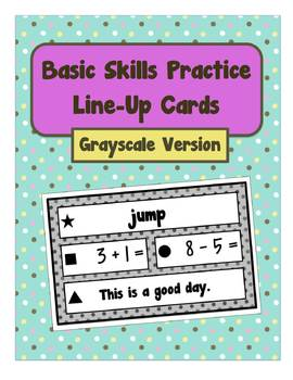 Elementary Line-Up Cards (Sight Words, Math Facts, Fluency