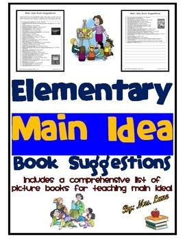 Elementary Main Idea Book Suggestions