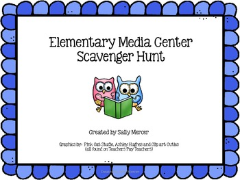 Elementary Media Center Scavenger Hunt