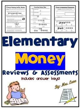 Elementary Money Reviews and Assessments