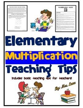 Elementary Multiplication Teaching Tips