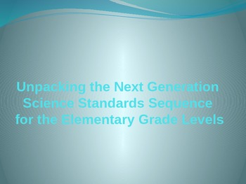 Elementary Science Standards Training--Full Version