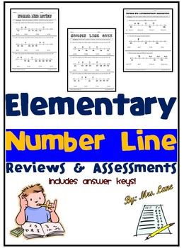 Elementary Number Line Reviews and Assessments