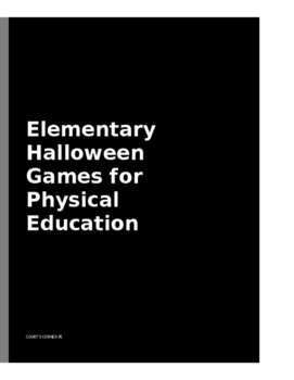 Elementary PE Halloween Lesson Plan