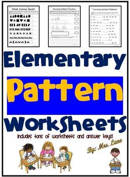 Elementary Pattern Worksheets