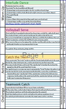 """Part 1 - Elementary Physical Education """"Mix and Match"""" Les"""