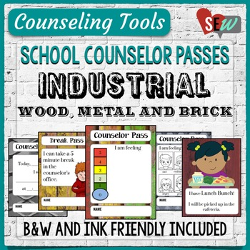 Elementary School Counselor Passes - Industrial Theme